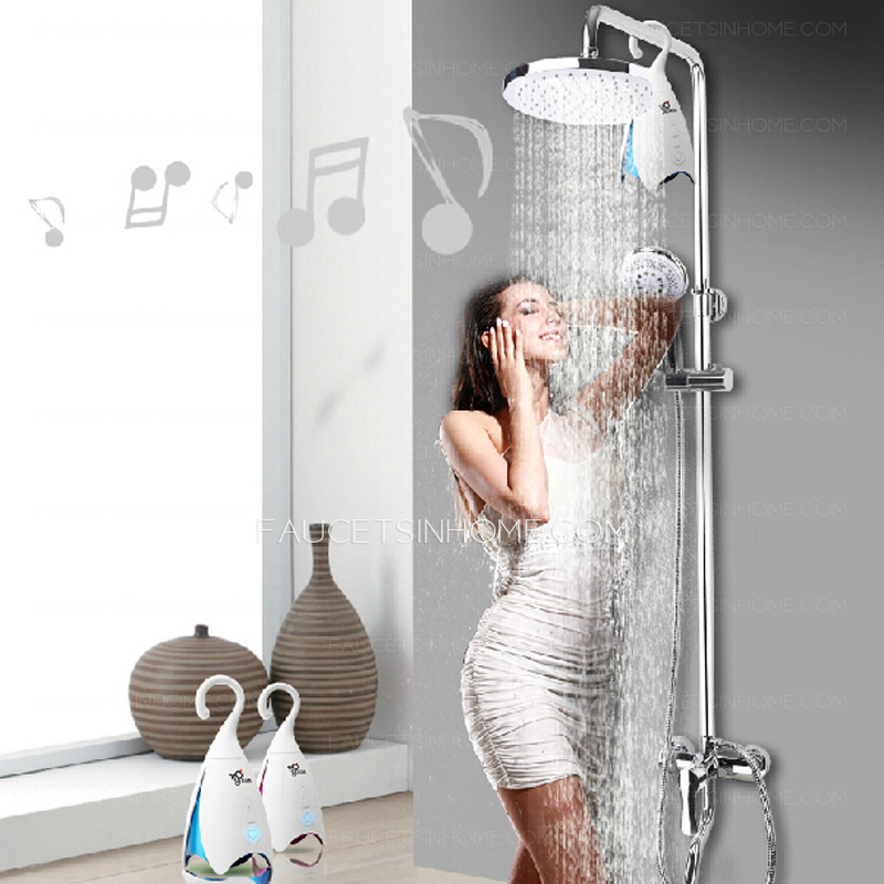 Bathroom Music fashionable bluetooth music shower faucet bathroom system