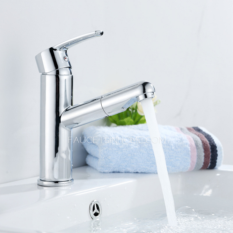 Single bathroom faucet