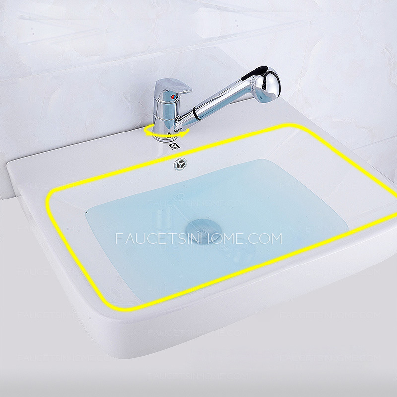 bronze waterfall bathroom faucet
