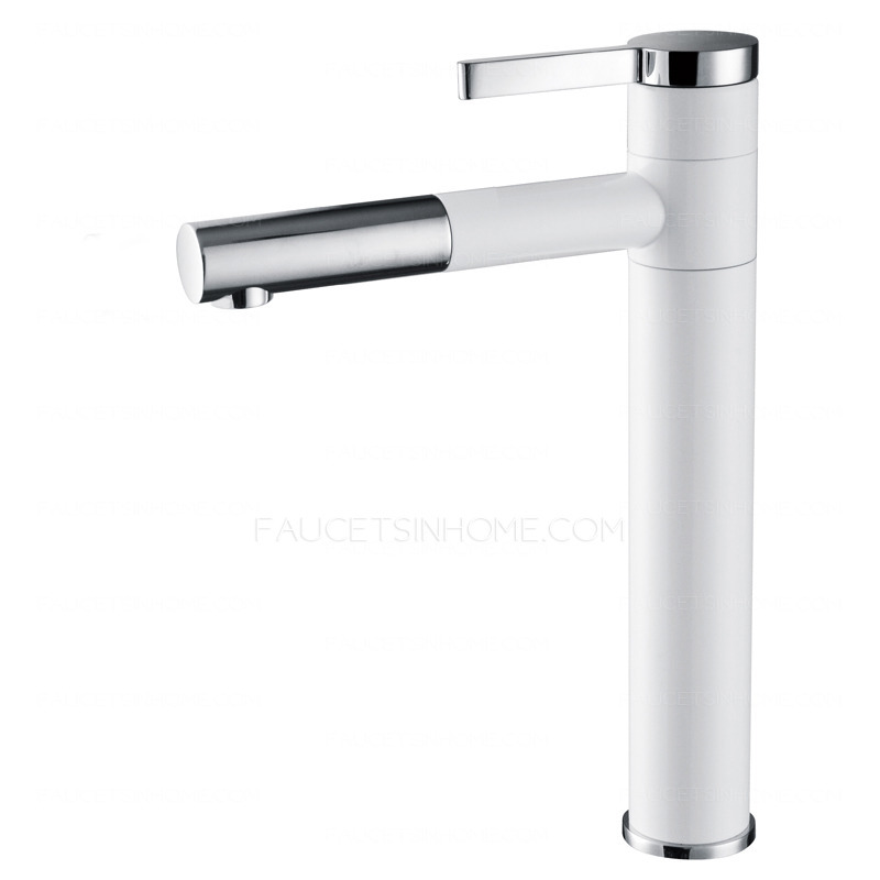 Hot Sale Copper Heightening Bathroom Faucet With Pull Out Spray