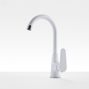 Cheap Rotatable Copper White Painting Bathroom Faucet On Sale