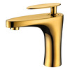 High End Gold FLat Single Handle Sink Faucet Bathroom