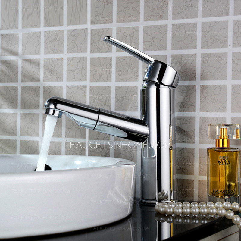 Pull out bathroom faucet