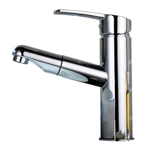 Unique Pull Out Copper Rotatable Bathroom Sink Faucet