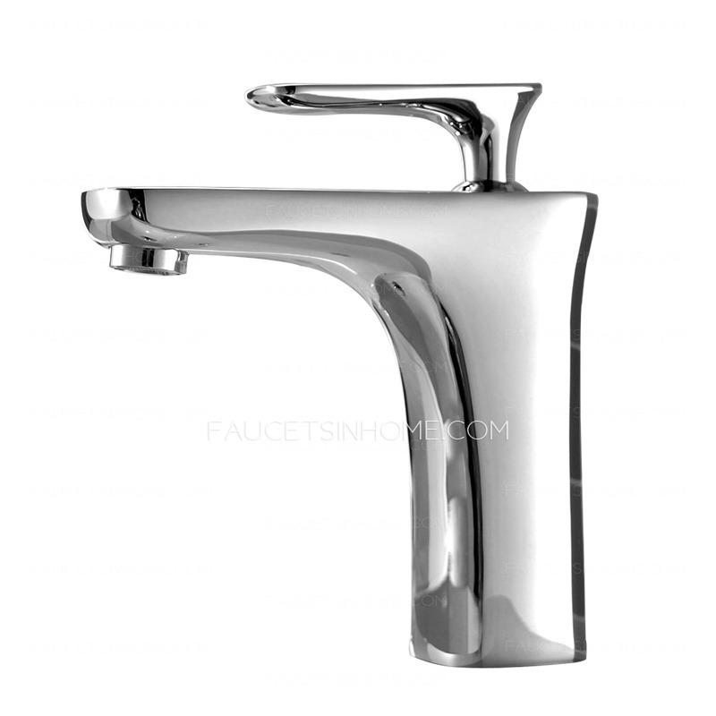 best single handle chrome copper deck mount bathroom sink