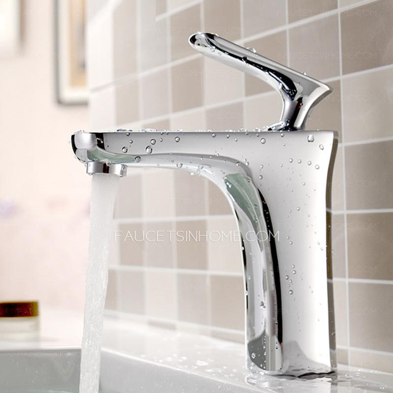 Best Single Handle Chrome Copper Deck Mount Bathroom Sink Faucet