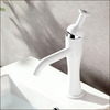 Cool White Painting Single Handle Sink Faucet Bathroom