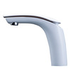 Cool White Painting Streamlined Designed Bathroom Sink Faucet