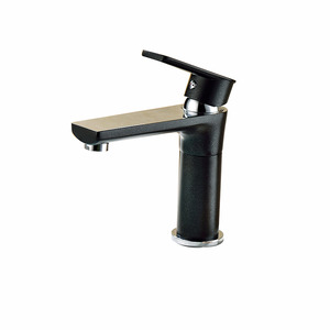 High End Black Painting Deck Mount Rotatable Faucet Bathroom