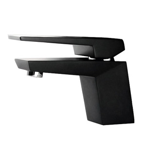 Designed Black Painting Short Single Hole Bathroom Faucet