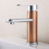 Advanced Brushed Brown Brass Bathroom Faucet Single Hole