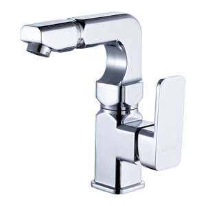 Modern Square Shaped Rotatable Brass Bathroom Sink Faucets