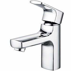 Designed Streamlined Brass Single Hole Bathroom Sink Faucets