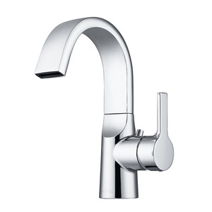 Designed High Arc Brass Chrome Waterfall Sink Faucet Bathroom
