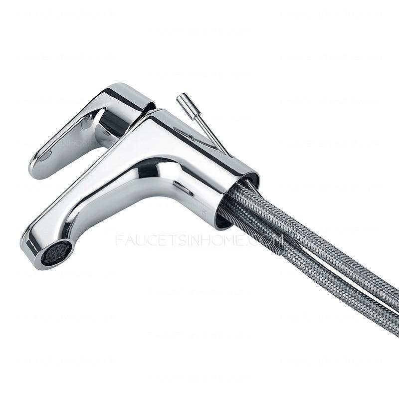 Best Brass Single Hole Sink Faucet Bathroom Pulling Overflow. One Hole Sink Faucet