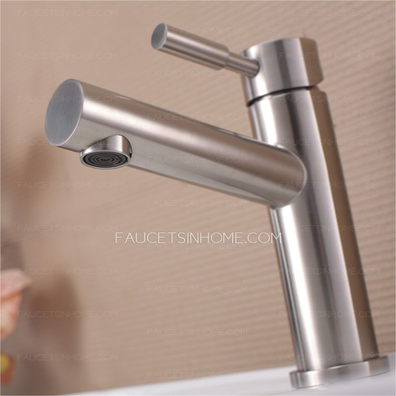 Stainless steel bathroom faucets