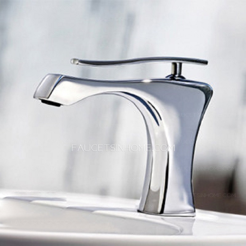 cool designed copper chrome bathroom sink faucet one hole