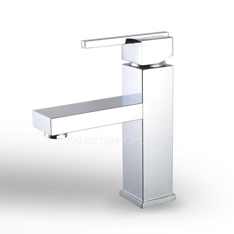 Fashion Square Shaped Single Hole Sink Faucet Bathroom
