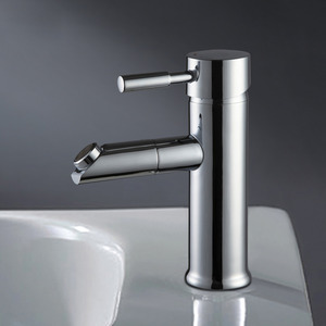 Affordable Copper Rotatable Single Hole Sink Faucet Bathroom