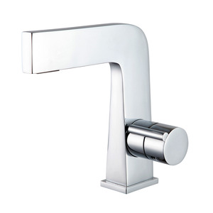 Creative Seven Shaped Waterfall Bathroom Faucets Single Handle