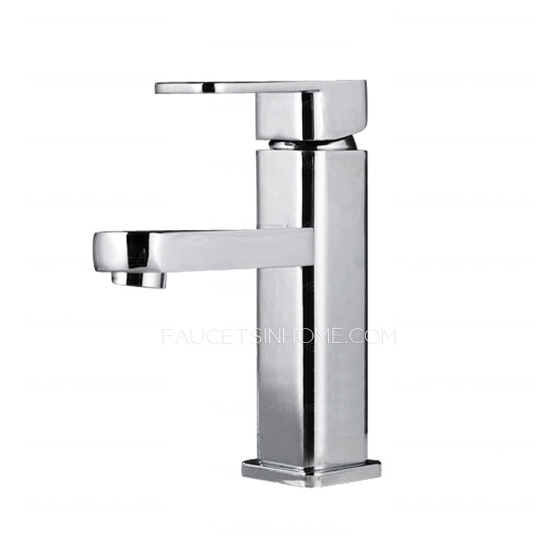 Bathroom Sink Faucets > Discount Copper Square Shaped Bathroom Sink ...