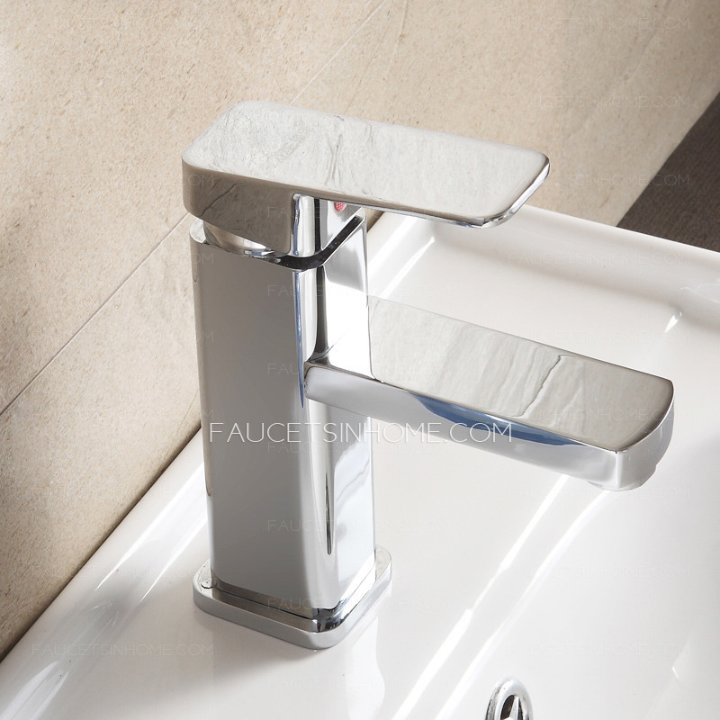 Discount Bathroom Sink Part - 16: Discount Copper Square Shaped Bathroom Sink Faucet Single Hole