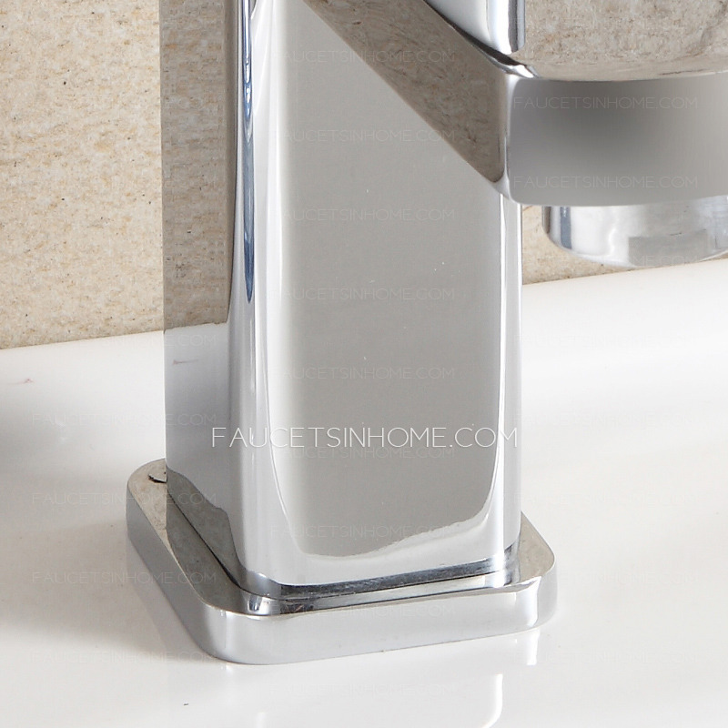 Discount Bathroom Sink Part - 24: Discount Copper Square Shaped Bathroom Sink Faucet Single Hole