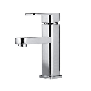 Discount Copper Square Shaped Bathroom Sink Faucet Single Hole