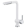 New Arrival White Painting Rotatable Kitchen Faucets With Sprayer