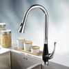 Industrial Pullout Black Painting Brass Casting Kitchen Faucets