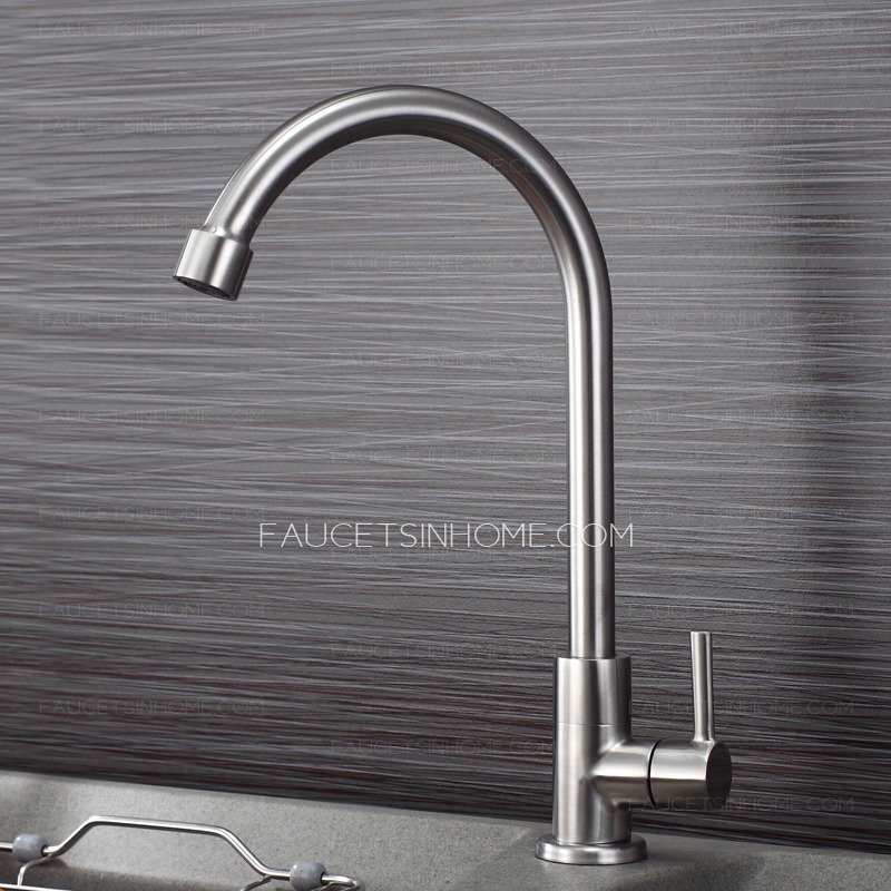Discount Kitchen Sinks And Faucets : ... Discount Cold Water Rotatable Stainless Steel Faucets Kitchen Sink