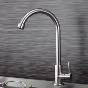 Discount Cold Water Rotatable Stainless Steel Faucets Kitchen Sink