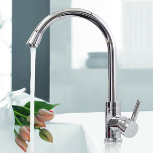 Wholesale Brass Single Hole Rotatable Kitchen Faucets
