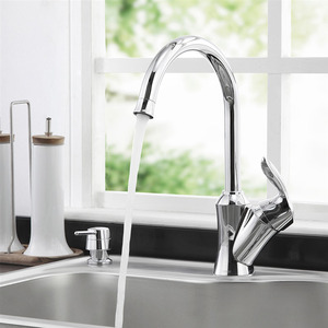 Healthy Leading Free Brass Chrome Faucet Kitchen Single Hole