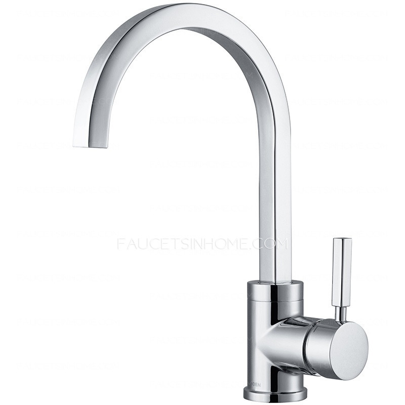 expensive brass rotatable single handle kitchen faucet