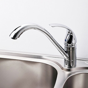 Designer Brass Cold And Hot Water Kitchen Faucet Rotatable