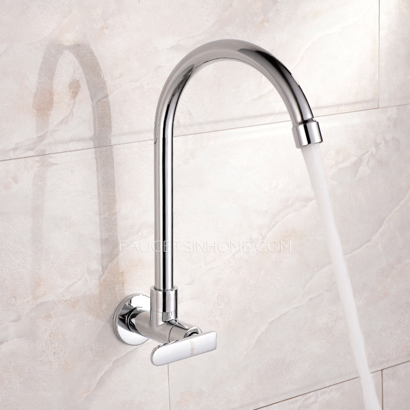 affordable cold water single hole wall mount kitchen faucet affordable wall mount rotatable brass kitchen faucets best