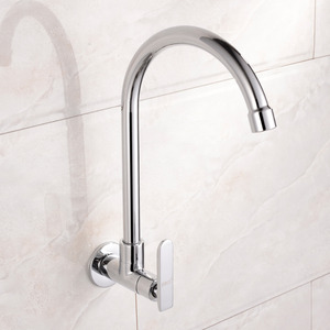 Affordable Cold Water Single Hole Wall Mount Kitchen Faucet
