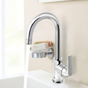 High End High Arc Rotatable Vessel Mount Faucet Kitchen