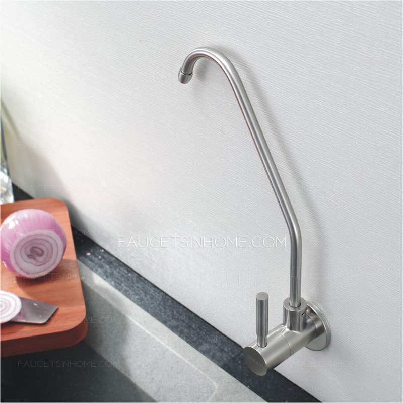 stainless steel wall mount kitchen faucet