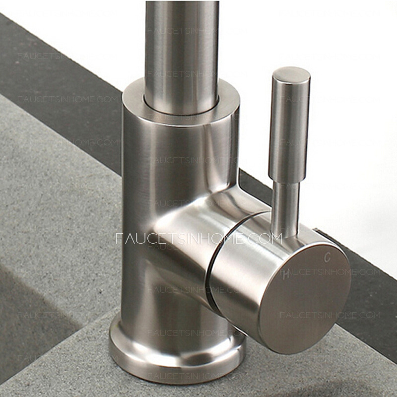 Charming High End Stretch Stainless Steel Brushed Nickel Kitchen Faucets