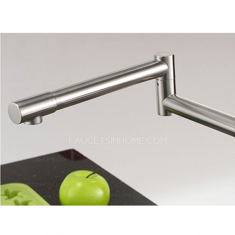 High End Stretch Stainless Steel Brushed Nickel Kitchen