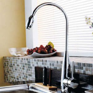 Inexpensive Brass Standing Thick Chrome Kitchen Faucets