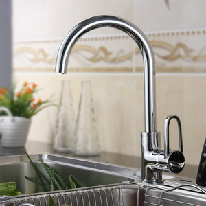Hot Sale Rotatable Brass Sink Faucets Kitchen Single Hole