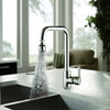 Designer Seven Shaped Rotatable Brass Kitchen Faucet Single Hole
