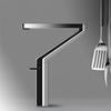 High End Brass Rotatable Chrome Kitchen Faucets Stangding