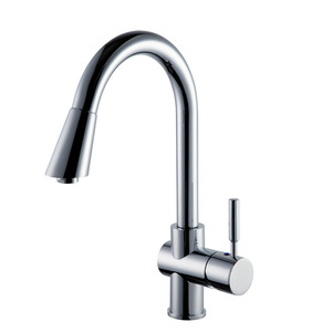 High Quality Brass Single Handle Single Hole Kitchen Faucets Rotatable