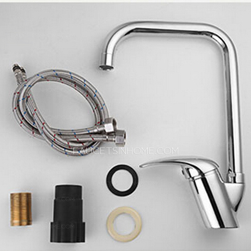 Top Rated Brass Single Hole Rotatable Kitchen Sink Faucets