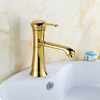 Discount Vintage Brass Single Hole Rotatable Sink Faucet Bathroom