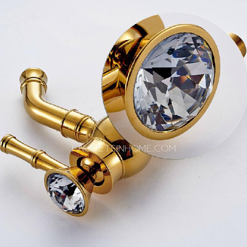 Cheap Golden Brass Rotatable Spout Bathroom Faucet Single Hole